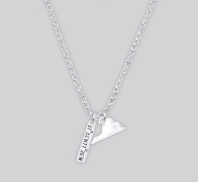State Necklace & Bracelet VA (image via Target)